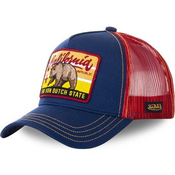 Gorra trucker azul y roja California FOR1 de Von Dutch