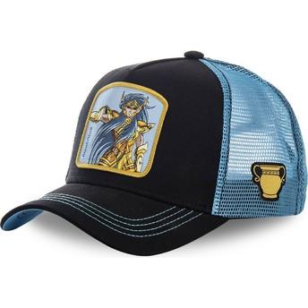 Gorra trucker negra y azul Acuario AQU Saint Seiya: Los Caballeros del Zodiaco de Capslab