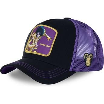 Gorra trucker negra y violeta Capricornio CAP Saint Seiya: Los Caballeros del Zodiaco de Capslab