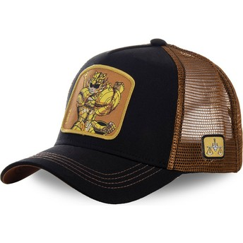 Gorra trucker negra y marrón Libra LIB Saint Seiya: Los Caballeros del Zodiaco de Capslab