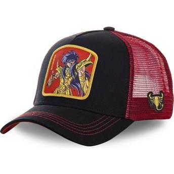 Gorra trucker negra y roja Escorpio SCO Saint Seiya: Los Caballeros del Zodiaco de Capslab