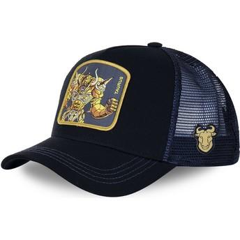 Gorra trucker negra y azul Tauro TAU Saint Seiya: Los Caballeros del Zodiaco de Capslab