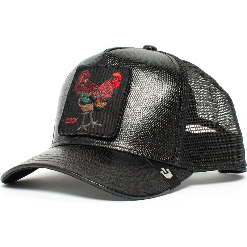 gorra-trucker-negra-gallo-big-rooster-de-goorin-bros
