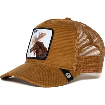 Gorra trucker marrón alce Moose Head de Goorin Bros.