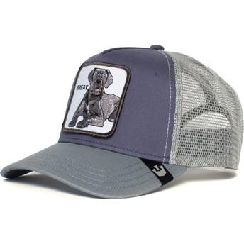 Gorra trucker gris perro gran danés Big D de Goorin Bros.