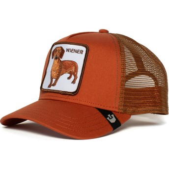 Gorra trucker marrón perro teckel Weiner Dawg de Goorin Bros.