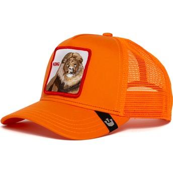 Gorra trucker naranja león Strong King de Goorin Bros.