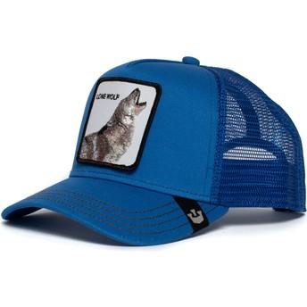 Gorra trucker azul lobo Strong Wolf de Goorin Bros.