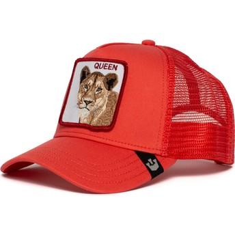 Gorra trucker roja leona Strong Queen de Goorin Bros.