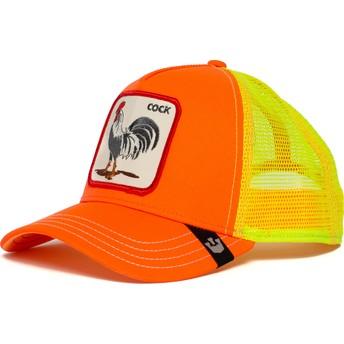 Gorra trucker naranja y amarilla gallo Electric Tamale de Goorin Bros.
