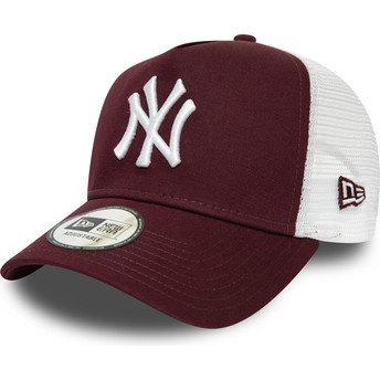 Gorra trucker granate y blanca Essential A Frame de New York Yankees MLB de New Era