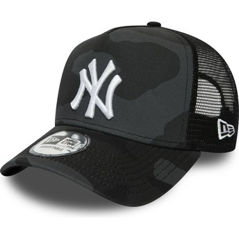 Gorra trucker camuflaje negro con logo blanco Essential Camo A Frame de New York Yankees MLB de New Era