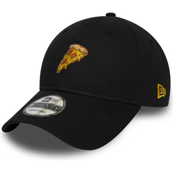 Gorra curva negra ajustable 9TWENTY Pizza de New Era