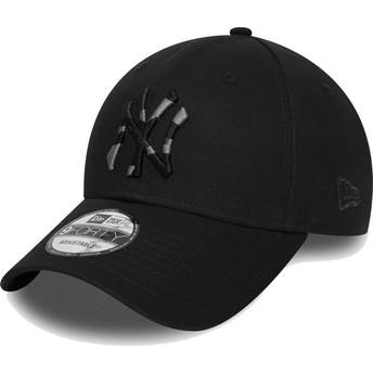 Gorra curva negra ajustable con logo camuflaje 9FORTY Camo Infill de New York Yankees MLB de New Era