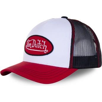 Gorra trucker blanca, negra y roja BBR de Von Dutch