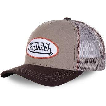 Gorra trucker marrón BRO de Von Dutch