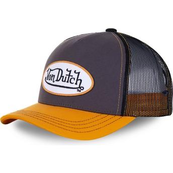 Gorra trucker gris y amarilla OGR de Von Dutch