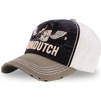 Gorra curva negra, blanca y marrón ajustable XAVIER06 de Von Dutch