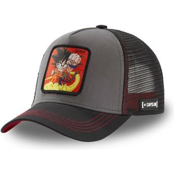 Gorra trucker gris y negra Son Goku Niño GOK4 Dragon Ball de Capslab