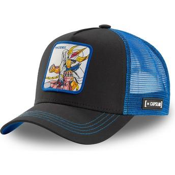 Gorra trucker negra y azul Ikki de Fénix PHO1 Saint Seiya: Los Caballeros del Zodiaco de Capslab