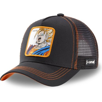 Gorra trucker negra Vegetto Super Saiyan VEG3 Dragon Ball de Capslab