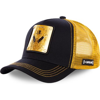 Gorra trucker negra y dorada Rich Uncle Pennybags BIF Monopoly de Capslab