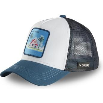 Gorra trucker blanca y azul Kame House HOU2 Dragon Ball de Capslab
