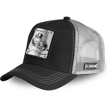 Gorra trucker negra y plateada Rich Uncle Pennybags MAILLE Monopoly de Capslab