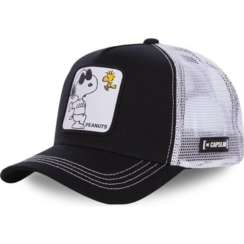 Gorra trucker negra y blanca Snoopy Joe Cool NAW1 Peanuts de Capslab