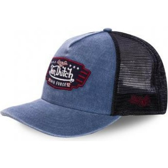 Gorra trucker azul marino y negra Air Force TOP2 de Von Dutch