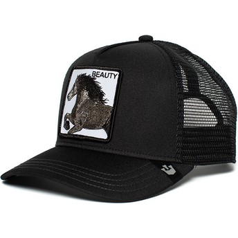 Gorra trucker negra caballo Black Beauty de Goorin Bros.
