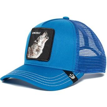 Gorra trucker azul lobo Wolf de Goorin Bros.
