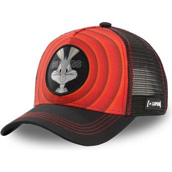 Gorra trucker roja y negra Bugs Bunny Bullseye Color Rings LOO BUG1 Looney Tunes de Capslab