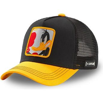 Gorra trucker negra y amarilla Pato Lucas LOO DUK Looney Tunes de Capslab