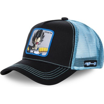 Gorra trucker negra y azul para niño Vegeta KID_VEGB Dragon Ball de Capslab