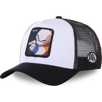 Gorra trucker blanca y negra para niño Krillin KID_KRI Dragon Ball de Capslab