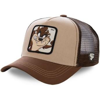 Gorra trucker marrón para niño Diablo de Tasmania KID_TAZ2 Looney Tunes de Capslab