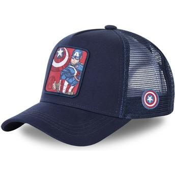 Gorra trucker azul marino para niño Capitán América KID_CPT1 Marvel Comics de Capslab