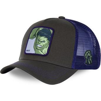 Gorra trucker gris y violeta para niño Hulk KID_HLK1 Marvel Comics de Capslab