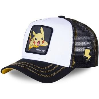 Gorra trucker blanca y negra para niño Pikachu KID_PIK5 Pokémon de Capslab