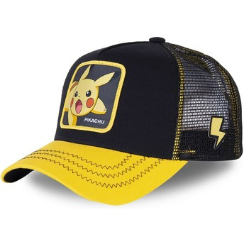 Gorra trucker negra y amarilla para niño Pikachu KID_PIK6 Pokémon de Capslab