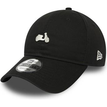 Gorra curva negra ajustable 9TWENTY Vespa de New Era