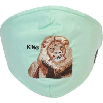 Mascarilla reutilizable verde menta león Mane Cat de Goorin Bros.