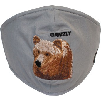 Mascarilla reutilizable gris oso Bear Mountain de Goorin Bros.
