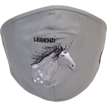 Mascarilla reutilizable gris unicornio Living Legend de Goorin Bros.