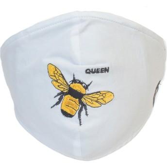 Mascarilla reutilizable blanca abeja Buzzy Bee de Goorin Bros.