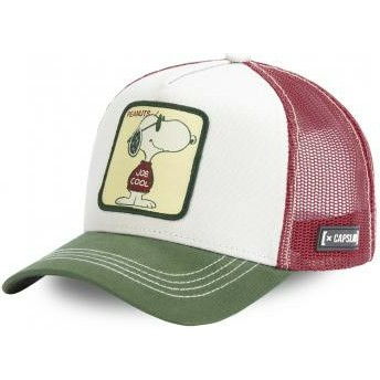Gorra trucker blanca, marrón y verde Snoopy Joe Cool JOE Peanuts de Capslab