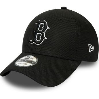 Gorra curva negra ajustable 9FORTY Diamond Era Essential de Boston Red Sox MLB de New Era