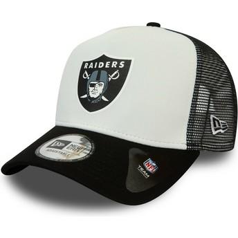 Gorra trucker blanca y negra Team Colour Block A Frame de Las Vegas Raiders NFL de New Era