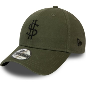 Gorra curva verde ajustable 9FORTY Dollar Pack de New Era
